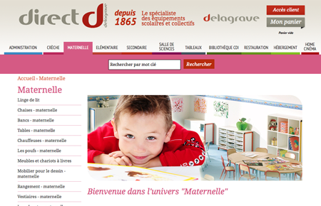 exemple site e-commerce Delagrave