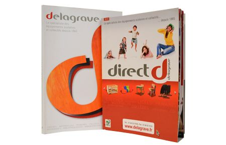 catalogue produit papier Indesign Delagrave