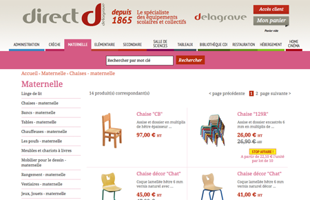 e-catalogue produit B2B Delagrave
